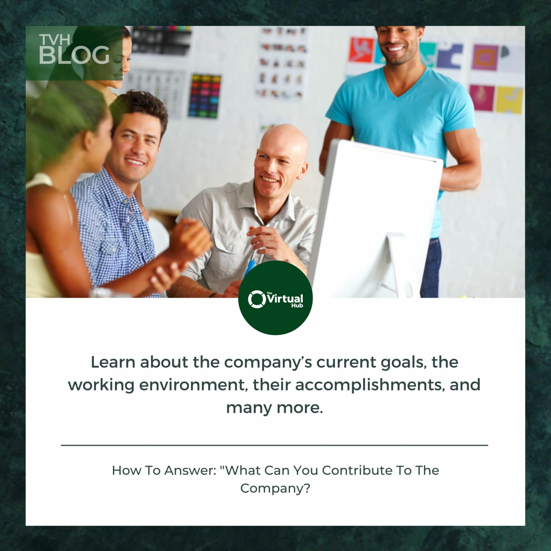 what can you contribute to the company